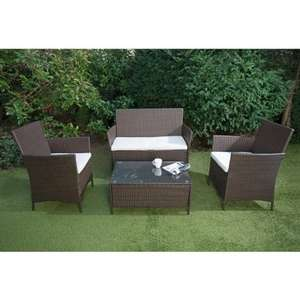 Venice Rattan Effect Sofa Set 4pc £149.99 (RRP £499.99) @ B&M