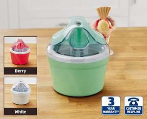 Aldi Ice Cream Maker £14.99, 3 years Warranty, from Thursday 2nd of July