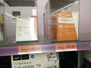 Windows 8.1 £49.95, Microsoft Office 365 Personal £39.95 and Home £53.32 @ Sainsbury