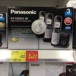 Panasonic trio cordless telephone £32 @ Asda in store