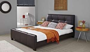 Bayview Faux Leather Bed Frame £199.99 plus £40 delivery (possibly £220 in total) @ Bensons for Beds