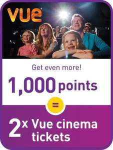 2 Vue cinema tickets or 2 Pizza Express pizzas in exchange for just 1000 Nectar  Points at Sainsburys.