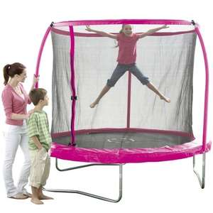 8ft pink trampoline £89.99 in-store @ toysrus this weekend only using £10 off £50 spend printable voucher