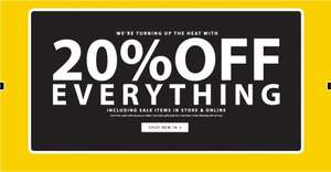 20% off everything @ Peacocks