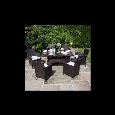 6 seater rattan rectangular garden table set £430 tesco direct