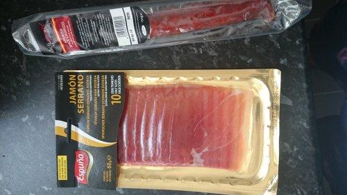 Espuna Serrano Ham 60g, and 150g spicy chorizo - 99p @ 99p stores