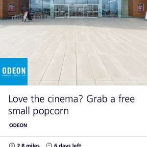 O2 Priority - Odeon - Free small popcorn
