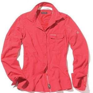 Craghoppers Womens NosiLife Darla Long Sleeve Shirt - Blush Red outdoor clearance deal £5.50 + £2.95 del (£8.45)