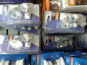 Status 50W GU10 Halogen 400 Lumen Bulbs, 2 x GU10 for 99p at Sam 99p Stores
