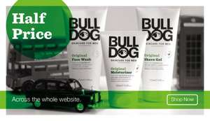 Half Price Sale. Bulldog Skin Care For Men Products from £1.75  @ Meet The Bulldog
