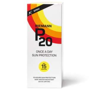 Riemann P20 Sun Protection 200ml - Only £12.49 @ Savers