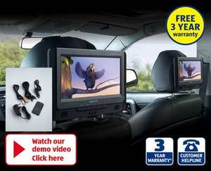 Aldi Twin in-car dvd players only £49.99! 3 year warranty!