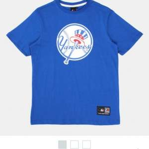MAJESTIC MAJESTIC NY YANKEES FRITTLE LOGO T-SHIRT - BLUE £5.99 delivered at urban industry + 8 quidco