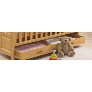 under cot bed drawer oak or natural £1.00!!!! + delivery £10.95 @ Tutti