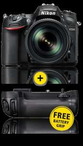 Claim Free Nikon Battery Grip (£279.99 RRP) with D7200 and D610 purchases via Nikon