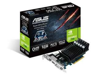 Asus GT 730 Silent 1GB GDDR3, VGA, DVI, HDMI, PCI-E Graphics Card, Perfect for a low powered HTPC £34.98 @ ebuyer Free Delivery
