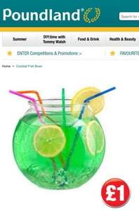 Plastic Cocktail Fishbowls £1 @ Poundland!