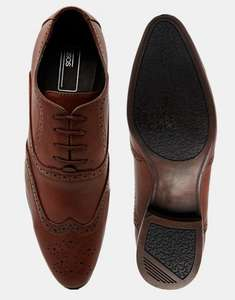 ASOS Tan Wingtip Mens Shoes £12.50 & £3.00 Delivery £15.50 @ Asos.com £15.50