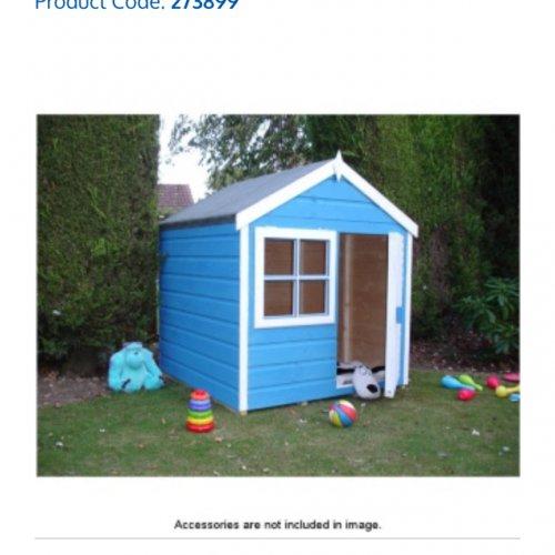 Wooden playhouse 4x4   £139 @ B&M