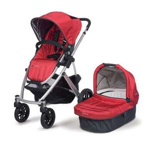 Uppababy Vista 2 in 1 travel system in Red or Beige £499 -Pramworld