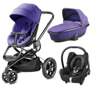 Quinny Moodd 3 in 1 purple pram, car seat and pushchair £499 Pramworld