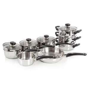 Morphy Richards 8 Piece Stainless Steel Pan Set £53.48 @ WorldStoresUK
