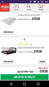Hygena Otis Double Ottoman Bed Frame - Chocolate. 339/8582 £119.99 at Argos