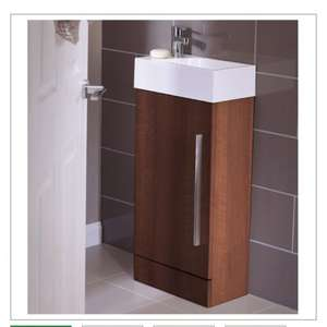 Cloakroom Unit with Pedestal Sink and Tap, Walnut or white £194.50  @ John Lewis