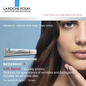 Free 2 x 1.5ml sample of Laroche Posay Redermic R Face cream (FB send to a friend)