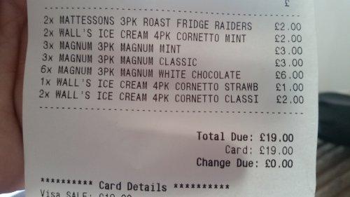 Farmfoods icecream Down to £1