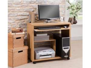 ** Seattle Computer Trolley in Oak/Walnut now £9.75 @ Tesco Direct **