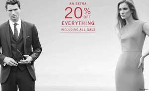 An extra 20% off everything (including sale items) @ Austin Reed