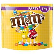 They're back! M&M's Peanut MASSIVE 1KG Party Bag Only £2.99!! Home Bargains