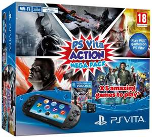 Sony PlayStation Vita Action Mega Pack (8gb memory card, Injustice: Gods Among Us Ultimate Edition, Batman: Arkham Origins Blackgate, PlayStation Allstars: Battle Royale, God of War: Chain of Olympus, Killzone: Liberation) - £98 - Asda (Instore)