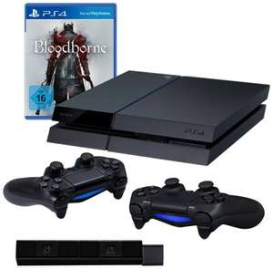 PlayStation 4 - Console inc. Bloodborne Game + TWO DualShock 4 Wireless Controllers + Playstation Camera  £285.10 delivered @ Amazon DE