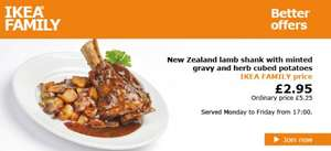 New Zealand Lamb Shanks with Minted Gravy and Herb Cubed Potatoes £2.95 (IKEA Family Members - Free to Join!)