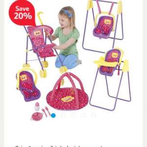 Peppa pig play and go travel set £20 Free CnC @ Tesco Direct online
