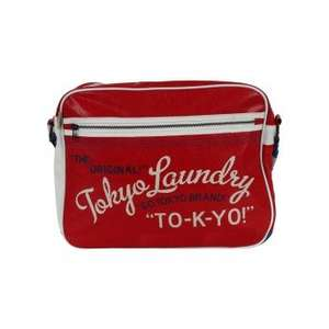 Tokyo Laundry messenger bags (Red / Ivory / Blue) £6.73 delivered using code @ Tokyo Laundry