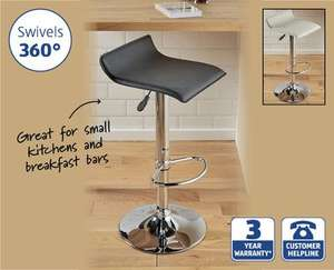 Padded Gas Lift Bar Stool £16.99 @ Aldi