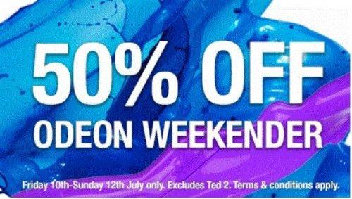 ODEON CINEMAS Flash Sale: 50% off this weekend