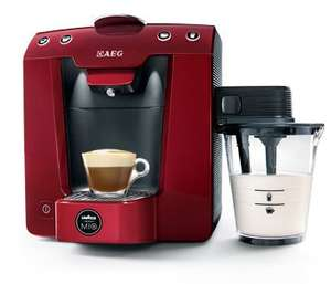 AEG LM5400MR Modo Mio Favola Cappuccino Coffee Machine in Metallic Red £95.50 @ Lavazza Coffee