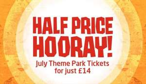 HALF PRICE  (that's just £14!) deal on Lightwater Valley Theme Park tickets.