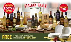 "Giordano ""Italian Table Selection"": 12 wines - 6 Food - 12-piece dinner set £59.95 inc. delivery @ Giordano Wines"