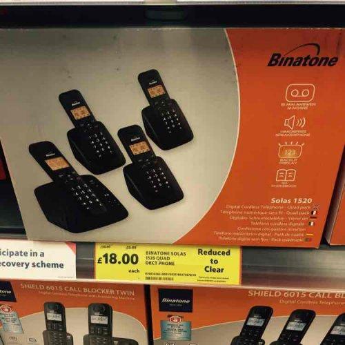 binatone quad phones £18 @ Tesco (Broughton)