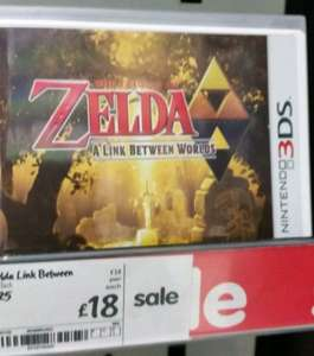 The Legend Of Zelda: A Link Between Worlds 3DS £18 @ Asda Instore