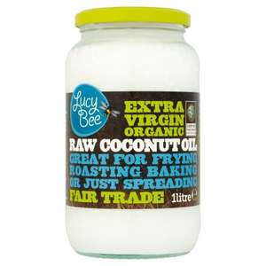 Lucy Bee Extra Virgin Organic Raw Fairtrade Coconut Oil 1 Litre £12 @ Amazon (prime) £15.30 (non prime)