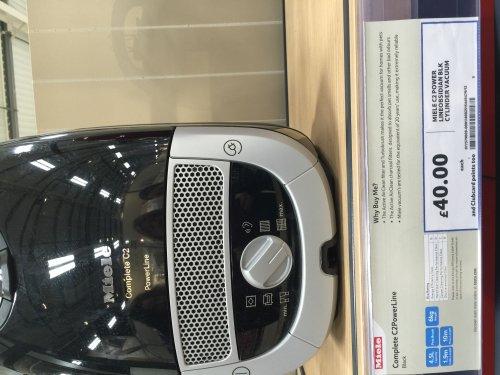 Miele c2 power vacuum £40 instore at tesco