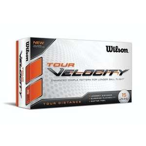 Wilson Tour Velocity Distance Golf Balls (15 Ball Pack) £9.99 +£1.99 P&P (£11.98) @Clickgolf.co.uk