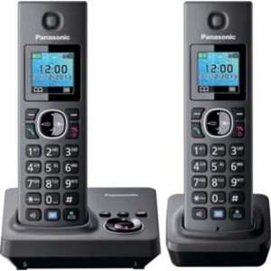Panasonic KX-TG7862EB Telephone with Answer Machine - Twin.  ARGOS