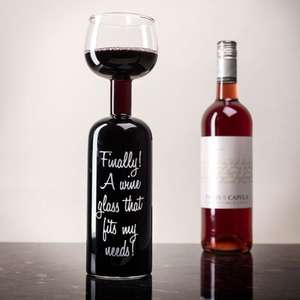 Wine Bottle Glass - Finally! A Wine Glass That Fits My Needs! £15.68 Delivered @ gettingpersonal.co.uk